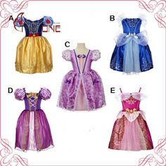 Aliexpress.com: Comprar Chicas Rapunzel Princesa Vestidos Niños Chica Cosplay Costume Party Dress Niños Cenicienta Bella Durmiente Ropa Sofia T489 de dientes disfraces fiable proveedores en The_One