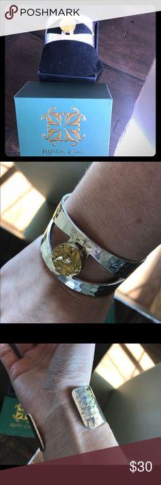 Rustic Cuff two toned bracelet Rustic Cuff Original Design Golden Eye Rustic Cuff Jewelry Bracelets