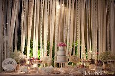 lace ribbons for cake backdrop