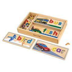 www.target.com p melissa-doug-see-spell-wooden-educational-toy-with-8-double-sided-spelling-boards-and-64-letters - A-10244292