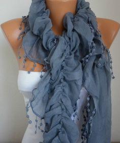 Infinity Scarf  Summer scarf shawl  Sale scarf  Silvery  by anils, $19.90