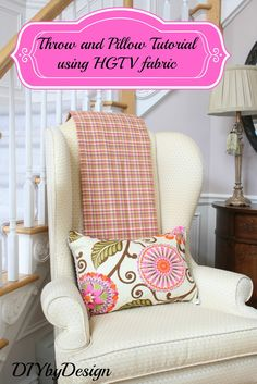 #DIY pillow and throw tutorial using @HGTV HOME  fabric by @DIYbyDesign :) We LOVE it!