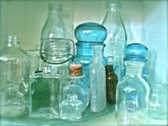Any kind of old jars you have would look great too. The more unique and old they look the better :)