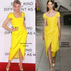 Renee Zellweger in Carolina Herrera Spring 2018 at the Same Kind of Different As Me LA Premiere.
