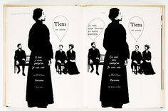 "Robert Massin, Typographic interpretation of Ionesco's ""The Bald Soprano"" (1964)"