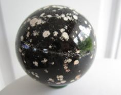 Starry Night Obsidian Carved Crystal Sphere