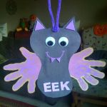 Hanging Handprint Bat Craft (Halloween Crafts For Children)