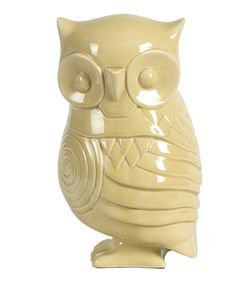 Another great find on #zulily! Yellow Ceramic Owl Garden Figurine #zulilyfinds