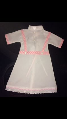 Girls Angel Gown made from lining material of wedding dress