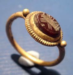 Authentic Ancient Roman Gold Wedding (Handfast) Ring - authentic ancient jewellery old antique jewelry antiquities
