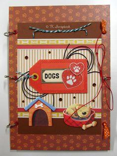 "Álbum de fotos ""Dogs"" #tkscrapbook"