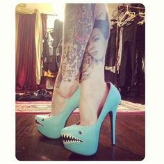 Kat von D shoes; hehe these heels are awesome so creative!