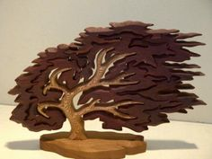 Hawthorn Puzzle Tree. Use as backdrop for business card holder.