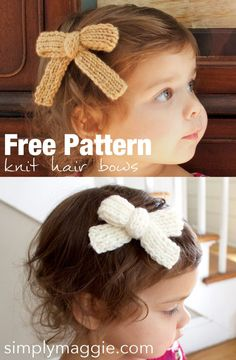 Knit Hair Bow Free Pattern