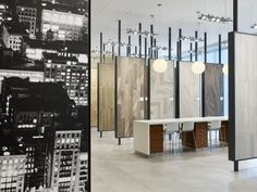 Anatolia Tile & Stone Showroom www.anatoliatile.com #tile #stone #HQ Tile Showroom, Showroom Design, Showroom Ideas, Doors And Floors, Bathroom Showrooms, White Subway Tiles, Retail Store Design, Exhibition Display, Shop Front Design