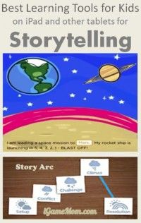 Storytelling learning tools for kids on iPad Tablets