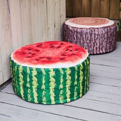 Our inflatable Outdoor Watermelon Pouffe is practical and fun, adding vibrant colour to your outdoor space whilst also offering extra seating for your guests. Use to accessorise your child's playroom when not in use outdoors.