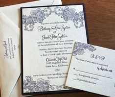 lace letterpress wedding invitation by invitations by ajalon