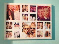 Love the collage up on my wall of me and my bestie. Great way to have lots of pictures but not loads of frames.
