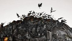 Detailed illustration of Earth destroyed by humans created by McCann World Group