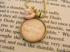 Cheshire Cat Quote Necklace ♥