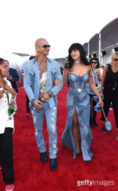 Rapper Riff Raff (L) and singer Katy Perry attend the 2014 MTV Video Music Awards at The Forum on August 24, 2014 in Inglewood, California. (Photo by Larry Busacca/Getty Images for MTV)