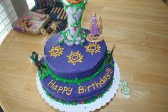 Rapunzel themed birthday cake!