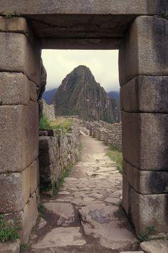 Main Entrance To Machu Picchu Peru