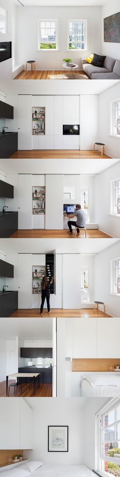 Darlinghurst Apartment - Design: Brad Swartz Photography: Katherine Lu This 27sqm apartment is designed to comfortably accommodate a couple. Through high quality design, it provides an affordable option for inner city living and challenges the need for urban sprawl.