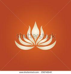lotus flower logo vector - stock vector