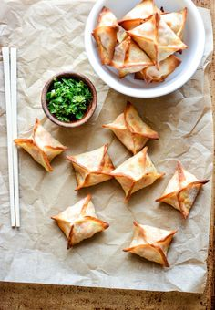 Spicy Baked Chicken Cream Cheese Wontons are a simple and delicious appetizer that needs to grace the menu of your next game day spread!: