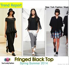 Fringed Black Top Fashion Trend for Spring Summer 2014  #fashion #trends #spring2014 #fringe