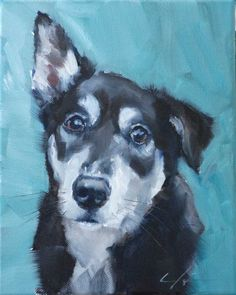 """EYES NOSE. """"The Daily Dog - One"""" original fine art by Clair Hartmann"""