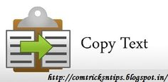 How to Extract Text from the Image easily by Simple Step . For more detail click on the link  :  http://comtricksntips.blogspot.in/2013/10/how-to-extract-text-from-images.html