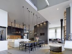 dining-kitchen area, Loft ESN by Ippolito Fleitz Group