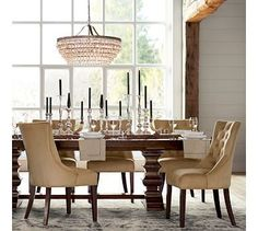 Adele Crystal Large Chandelier  Pottery Barn  Dining Table Ideas Interesting Dining Room Sets Pottery Barn Inspiration