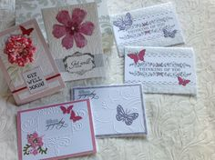 My own work - Winsome Cross Clean & simple ( so she can see them ) gift set for Jean to use.