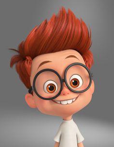 ArtStation - Peabody and Sherman, Phiyen Nguyen Baby Cartoon Drawing, Cute Cartoon Boy, Cute Cartoon Pictures, Cute Love Cartoons, Cartoon Kids, Cartoon Drawings, Cartoon Faces, Character Design Animation, Character Art