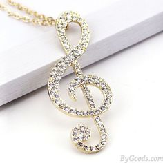 Cheap Shining Music Notes Diamond Pendant Stylish Sweater Necklace For Big Sale! Music Jewelry, Cute Jewelry, Modern Jewelry, Vintage Jewelry, Jewelry Accessories, Jewelry Design, Jewelry Ideas, Antique Jewelry, Silver Jewelry