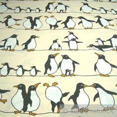 Stoff-Kinderstoff-Baumwolle-Polyester-Pinguin-Pinguine-280-cm-breit
