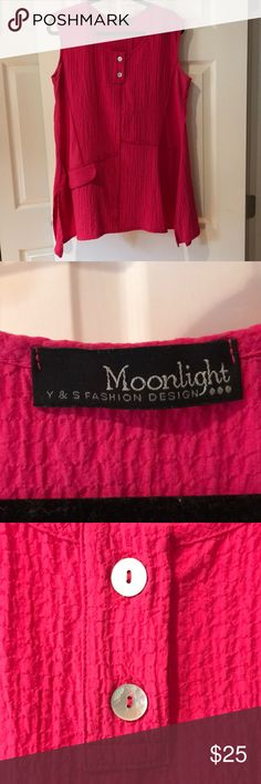 Sleeveless pink Moonlight top Pink sleeveless top by Moonlight Tops Blouses