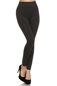95bbcf06 WHITE APPAREL Women Seamless Full Length Plus Leggings BLACK * Be sure to  check out this