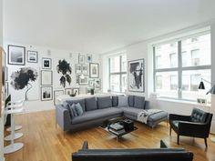 Spacious black,white and grey apartment