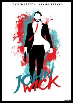 John Wick. Minimalist Poster Movie Comedy.