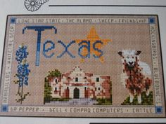 Handmade, Unframed, Land That I Love Cross Stitch, Choose Your State- Decoration, Gift, Collector, State