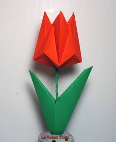 Origami traditional tulip leaf click on image to see step by step origami traditional tulip leaf click on image to see step by step tutorial kids crafts tutorials pinterest origami leaves and tutorials mightylinksfo