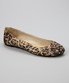 Take a look at this Rebels Footwear Brown Leopard Star Embellished Hyper Flat on zulily today!