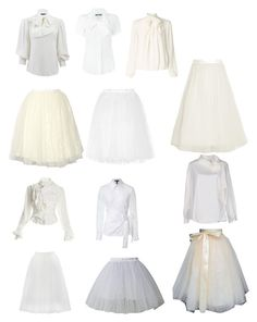 """Collection: Ivory and White, Bows and Tulle"" by kitchenchild ❤ liked on Polyvore featuring Ballet Beautiful, Bailey 44, Vivienne Westwood, Elizabeth and James, Alice + Olivia, Somerset by Alice Temperley, Alexander McQueen, ESCADA, Moschino and Chicwish"