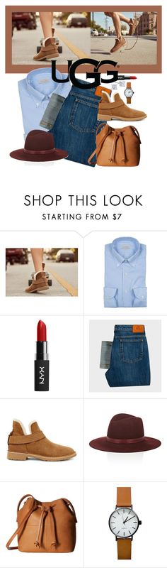 """""""The New Classics With UGG: Contest Entry"""" by precious-ervin ❤ liked on Polyvore featuring UGG, Paul Smith, Janessa Leone, ECCO and ugg"""