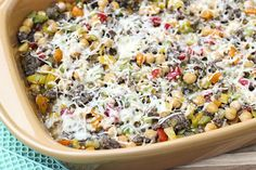 skinny italian beer and peppers recipe freezer friendly low fat low calorie low sodium view from top of casserole